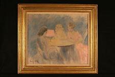 Louis Icart Original Oil Painting L'Heure Bleue
