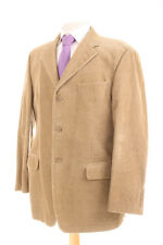 M&S BEIGE 100% COTTON CORDUROY MEN'S SPORTS JACKET 42R DRY-CLEANED