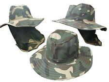 Army Green Sun Hat Wide Brim Visor Foldable Summer Garden Beach Camo Camouflage