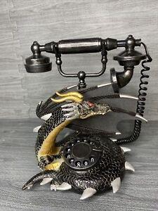 GEMMY HALLOWEEN ANIMATED LIGHTED DRAGON TELEPHONE Rare Gothic Art PHONE WORKS