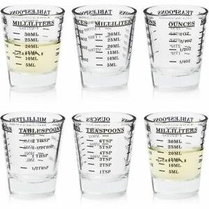 Shot Glass Measuring Cup (1 oz, 6-Pack)