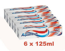 6 x 125ml Aquafresh Triple Protection Toothpaste  Family Size