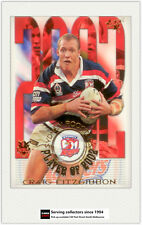 2003 Select NRL XL Cards Club Player Of year CP13 Craig fitzgibbon-Roosters