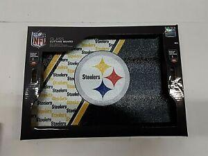 "Pittsburgh Steelers NFL Glass Cutting Board 14"" x 10"" x 5mm"