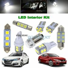 12x White LED Map Dome interior lights package kit fit 2013-2017 Honda Accord
