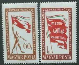 HUNGARY 1959 7th Socialist Workers Party Congress. Set of 2. MNH. SG1619/1620.