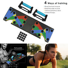 9 in 1 Push Up Rack Board System Fitness Workout Train Gym Exercise Stands ABS