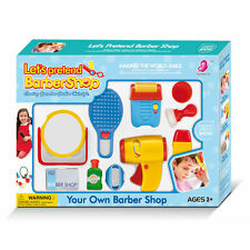 Play Accessories Barber Shop Salon Hairstyle Play Set Kids with Mirror toy kit C