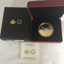 3 oz. Reverse Gold-PlatedSilver Coin - Whispering Maple Leaves - Mintage: 3500
