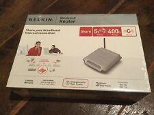 Belkin Wireless G Router. Share Broadband Internet. #F5D7230-4 comp 802.11b & g