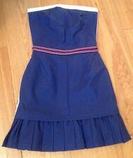 NWT  Beautiful D&G Dolce & Gabbana Tube Dress, Navy Blue, Size 6