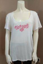 New Harley Davidson Women's Blouse/Shirt Myrtle Beach White/Pink Lettering 2 XL
