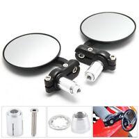 """Paar 7/8"""" 22mm Rückspiegel Lenkerendenspiegel Aluminum Universal Motorrad ATV"""