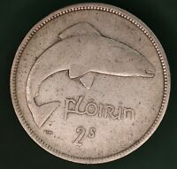 1941 Ireland Eire Irish florin two shilling coin 75% silver coin *[17643]