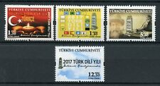 Turkey 2017 MNH Turkish Language Year 4v Set Cultures Traditions Stamps