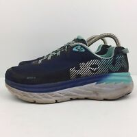 Hoka One One Bondi 5 Blue Running Shoes Teal Athletic Sneakers Women's Size 8.5