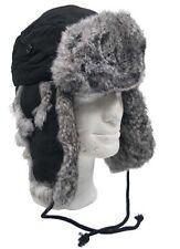 Fur Hat With Grey Rabbit Fur S-XL fur Hat Pilot Hat Hat Shapka