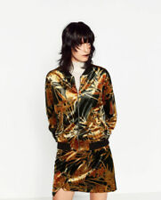 Cotton Blend Floral Bomber Coats, Jackets & Vests for Women
