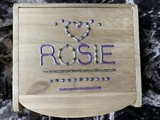 ROSIE PERSONALISED SMALL GIRLS WOODEN JEWELLERY TRINKET BOX - MIRROR/DRAWER