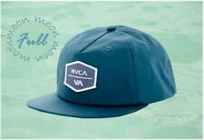 New RVCA Encore 5 Panel Pacific Blue Snap Back Hat Cap