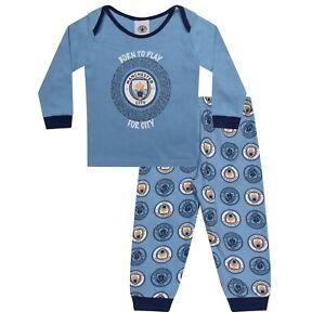 Manchester City Baby Pyjamas Long Boys Kids Official Football Gift