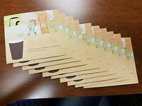 12 Starbucks drink vouchers gift card free drink coupon certificate green tea