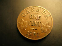 Canada 1921 Small Cent Penny.