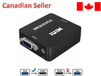 Mini Full HD Video 1080P Audio VGA to HDMI Converter Adapter for PC Laptop DVD