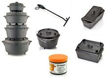 Petromax Feuertopf Kastenform Dutch oven alle Größen mit/ohne Füße Tasche Grill