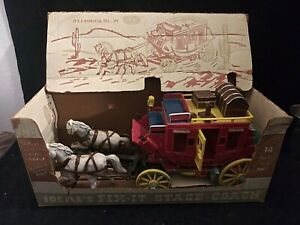 Vintage 1955 Ideal Davy Crockett Fix-It Stagecoach with Box