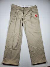 GEORGE Premium Khaki 40x32 Pleated Flex Fabric Adjustable Waist Pants