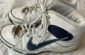 NIKE flex Boys Youth 7 white/Black High-top Running Shoes