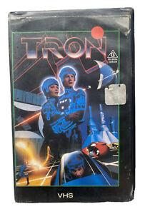 VINTAGE VHS MOVIE WALT DISNEY SCI-FI TRON Ex Rental Blockbuster Video Big Box