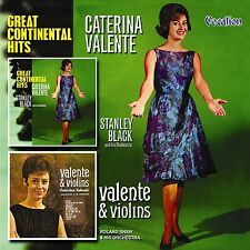 Caterina Valente GREAT CONTINENTAL HITS & VALENTE AND VIOLINS - CDLK4125