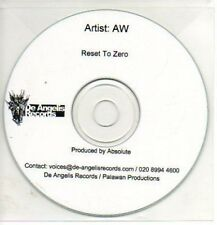 (42J) AW, Reset to Zero - DJ CD
