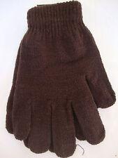 NEW Adult Mens Winter Accessories Warm Gloves Ski Brown One Size Wrist Womens