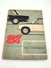 FIAT 124 ANNO 1966 MANUALE USO MANUTENZIONE ORIGINALE