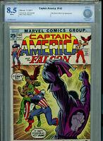 Captain America #143 CBCS 8.5 VF+ 1971  Marvel Comics Amricons B5