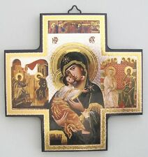 """Our Lady of Perpetual Help ICON - Beautiful 6"""" Wood Cross"""