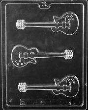J110 Electric Guitar Chocolate Candy Soap Mold with Instructions