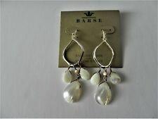 Barse Sterling Silver Mother of Pearl Drop Earrings MSRP $48