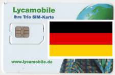 Lycamobile GERMAN, PREPAID SIM card,. MICRO/STD or NANO size. GERMANY.