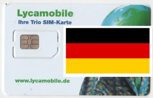 Lycamobile GERMAN, PREPAID SIM card, TRIO size. GERMANY. No credit.