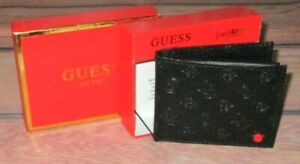MENS GUESS BIFOLD BLACK WALLET WITH ORIGINAL GIFT BOX