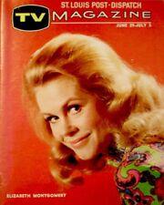 TV Guide 1969 Bewitched Elizabeth Montgomery Regional TV Mag Halloween EX COA