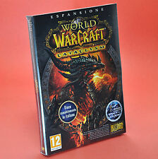 WORLD OF WARCRAFT CATACLYSM PC e MAC espansione completamente in italiano