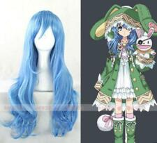 Anime DATE A LIVE Yoshino 70cm Long Blue Cosplay Party Full Wig Q30