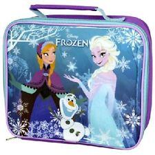 Official Disney Frozen Elsa & Anna Insulated School Rectangle Lunch Bag Gift