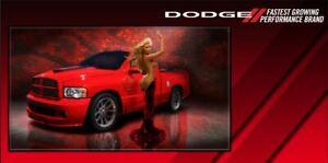 Dodge Truck Vinyl Garage Banner Sign 2 x 4' Vinyl Wall Art