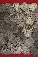 MAKE OFFER 2 Standard Ounces Mercury Dimes 90% Silver Junk Coins US Bullion
